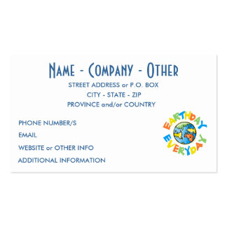 Personalized Earth Day Double-Sided Standard Business Cards (Pack Of 100)