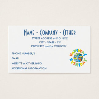 Personalized Earth Day Business Card