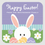 Personalized Easter Bunny Eggs Label Stickers at Zazzle