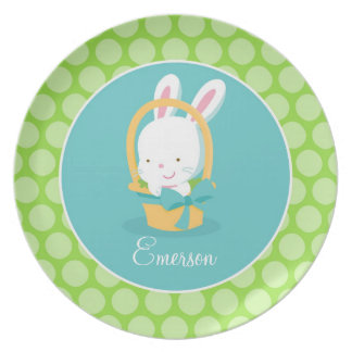 Personalized Easter Bunny Plate Children s Gift