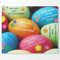 Personalized Easter Bunny Wrapping Paper