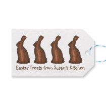 Personalized Easter Candy Chocolate Bunny Gift Tag