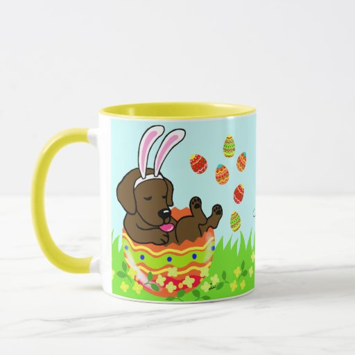 Personalized Easter Egg Chocolate Labrador Mug