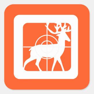 Personalized Eat Sleep Hunt 1st Deer Keepsake Square Sticker