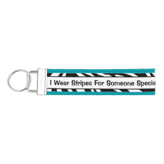 Personalized EDS Awareness Wrist Key Chain