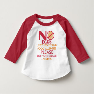 Personalized Egg Allergy Shirt, Do not feed me Infant T-shirt