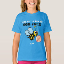 Personalized Egg Free Bumble Bee Allergy Alert T-Shirt