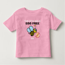 Personalized Egg Free Bumble Bee Allergy Alert Toddler T-shirt