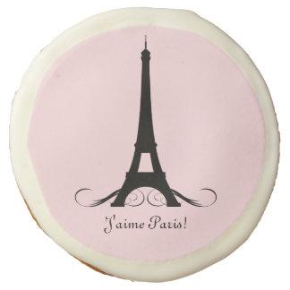 Personalized Eiffel Tower J'aime Paris! Sugar Cookie