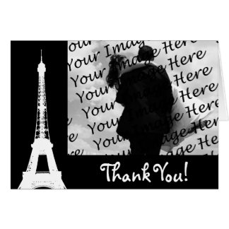 Personalized Eiffel Tower Photo Thank You Cards