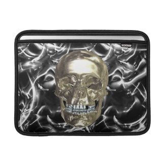 Personalized Electric Chrome Skull Macbook Sleeve