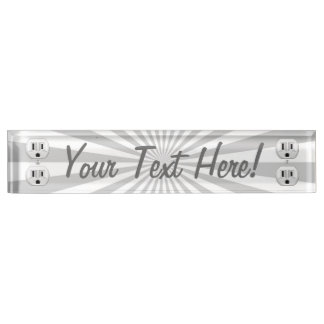 Personalized Electric Plug Wall Outlet Fun Desk Name Plate