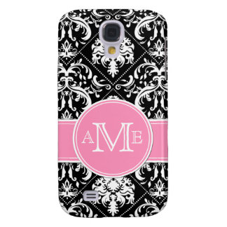 Personalized Elegant Black & white vintage damask Samsung S4 Case