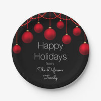 Personalized & Elegant Christmas Paper Plate