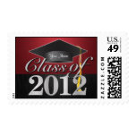 Personalized Elegant Class of 2012 Graduation Stamps
