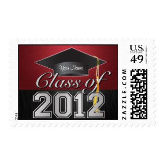 Personalized Elegant Class of 2012 Graduation Postage