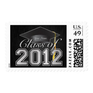 Personalized Elegant Class of 2012 Graduation Postage Stamps