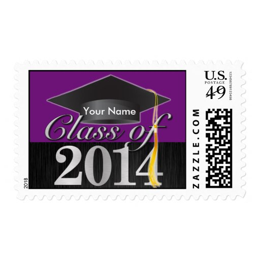 Personalized Elegant Class of 2014 Graduation Stamps