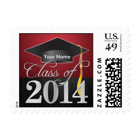 Personalized Elegant Class of 2014 Graduation Postage