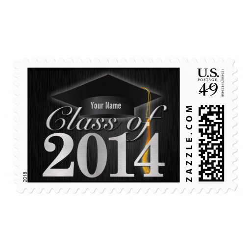 Personalized Elegant Class of 2014 Graduation Postage Stamps