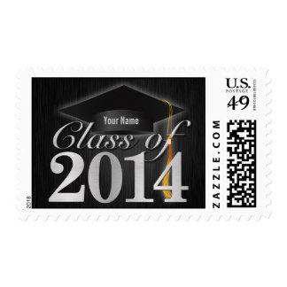 Personalized Elegant Class of 2014 Graduation Postage Stamp