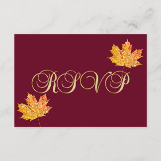 Personalized Elegant Fall Burgundy RSVP Wedding