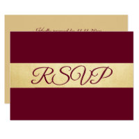 Personalized Elegant Fall Burgundy RSVP Wedding Invitation