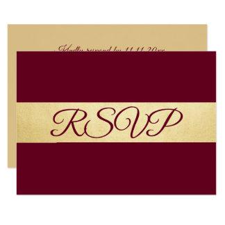 Personalized Elegant Fall Burgundy RSVP Wedding Invitation