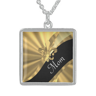 Personalized elegant gold mom necklaces