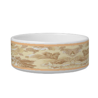 Personalized Elegant Leaf Pet Bowl