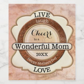 Personalized Elegant Marble Classic Wine Label