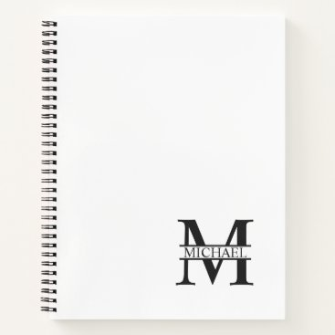 Professional Business Personalized Elegant Monogram and Name Notebook