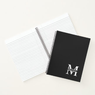 Personalized Elegant Monogram and Name Notebook