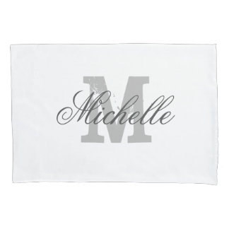 Personalized elegant monogram decor pillowcase