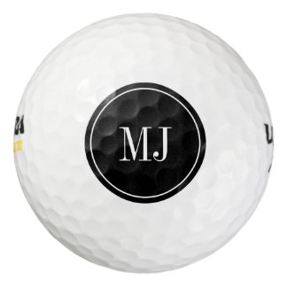 Personalized elegant monogram golf ball set