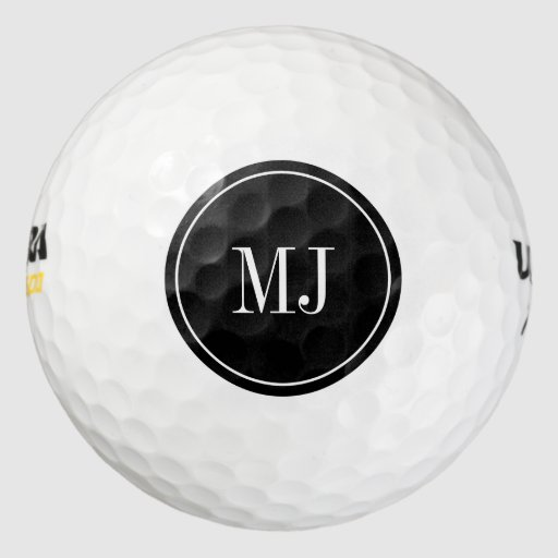 Personalized elegant monogram golf ball set Pack Of Golf Balls