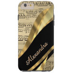 Personalized elegant music sheet tough iPhone 6 plus case