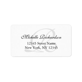 Personalized elegant name monogram address labels