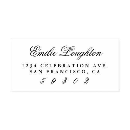 Personalized Elegant Name Script Return Address Rubber Stamp