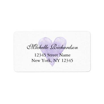 Valentines Themed Personalized elegant purple heart address labels