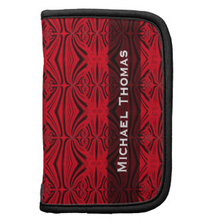 Personalized elegant red black pattern organizer