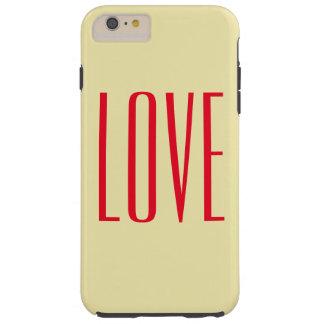 Personalized Elegant Red Love Tough iPhone 6 Plus Case