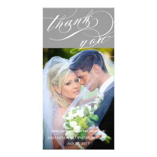 Personalized Elegant Script Wedding Thank You Card
