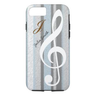 personalized elegant treble clef music iPhone 8/7 case