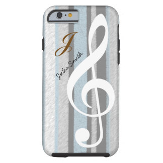 personalized elegant treble clef music tough iPhone 6 case