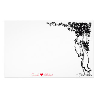 Personalized Elegant Vine Wedding Stationery Paper