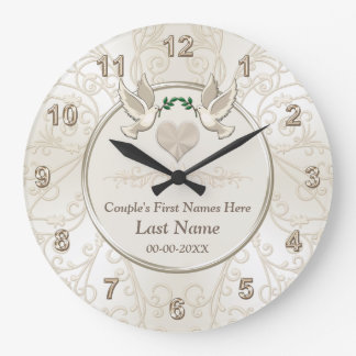 Personalized Elegant Wedding Gifts for Couples Large Clock
