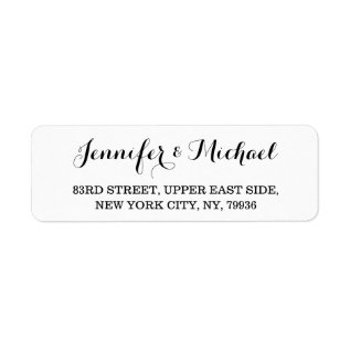 Personalized Elegant Wedding Return Address Label at Zazzle