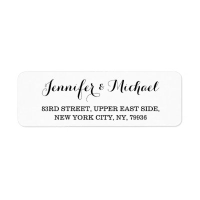 create custom elegant wedding return address label zazzle com