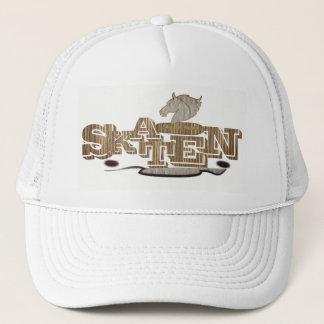 Personalized elegant white skateboard cap